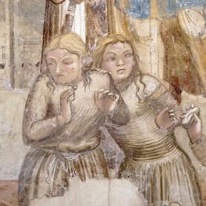 Schiave tartare (Ambrogio Lorenzetti, Martirio di cinque frati francescani, particolare, Chiesa di San Francesco, Siena)